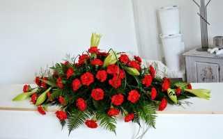 Особенности траурной флористики из живых и искусственных цветов