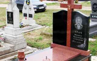 Виды надгробных памятников на могилу: из чего их делают