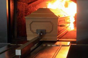 Гроб в крематории фото
