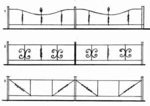 Эскизы оградок, пример фото