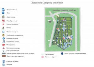 Карта-схема Хованского некрополя фото