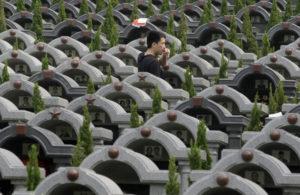 Кладбище в Китае фото