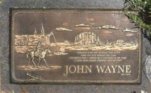 Могила Джона Уэйна фото