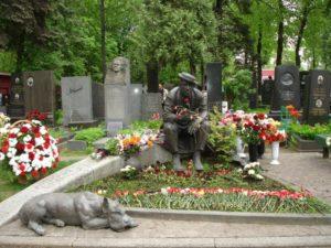 Могила Юрия Никулина фото