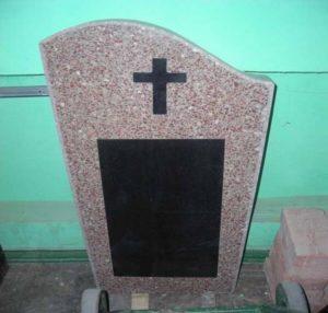 Памятник из гранитной крошки фото