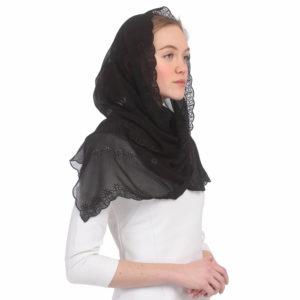 Похоронный платок-косынка фото