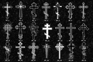Разные способы изображения крестов фото