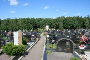 Вид на Троекуровское кладбище фото
