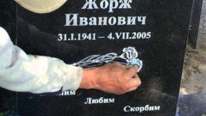 Протирка поверхности гранитного памятника фото