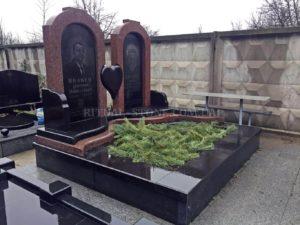 Надгробие с цветником фото