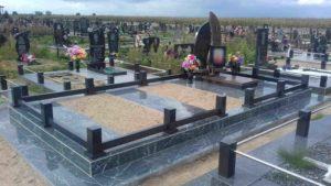 Комплексное сооружение на могиле фото