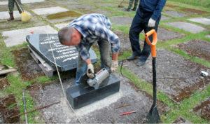 Установка надгробного памятника фото