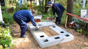 Установка стелы на могиле фото
