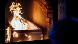 Печь в крематории фото