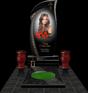 3D-макет надгробия для женщины