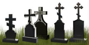 Надгробия в форме креста фото