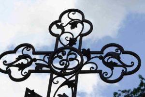 Художественная ковка креста фото