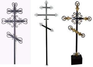 Крест, выполненный техникой штамповки фото