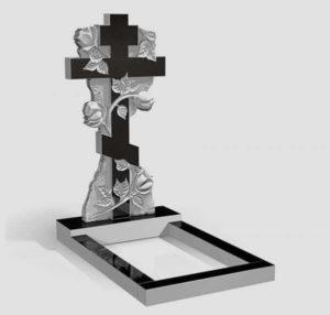 Надгробие в форме креста фото