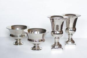 Металлические вазы фото