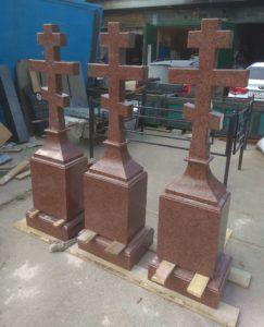 Православные кресты из гранита фото