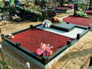 Хорошо оформленное погребение фото