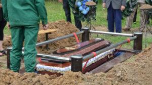 Похороны человека в закрытом гробу фото