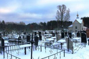 Кладбище зимой фото