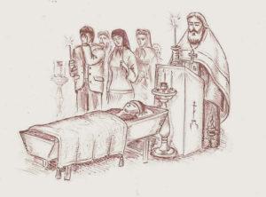Похороны христианина фото